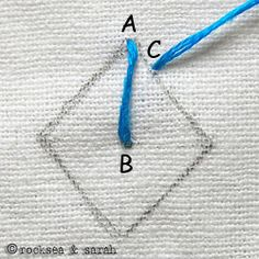 diamond eyelet stitch | Sarah's Hand Embroidery Tutorials