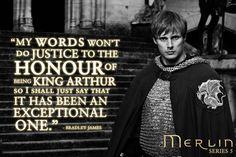 Bradley James on the end of Merlin.