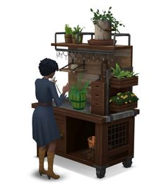 "Around the Sims 4 | Gardening tableI was a bit disappointed to find the lovely Eco-living gardening table was only decorative, so I pushed its clutter to make room for a functional arranging flower table.DOWNLOAD HEREI've also turned my decorative water collector into a functional ""drew collector"", working with Eco-living.DOWNLOAD HERE"