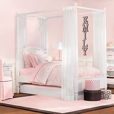 Great idea for Madelyn's bed
