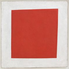 Red Square: Painterly Realism of a Peasant Woman in Two Dimensions (1915) - Kazimir Malevich