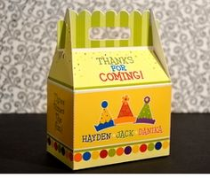 MADE-TO-MATCHPersonalized Gable Box Favor
