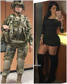 Sexy women in uniform Female Army Soldier, Female Marines, Mädchen In Uniform, Military Girl, Military Women, Girls Uniforms, Badass Women, Belle Photo, Women Hunting