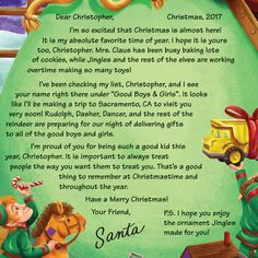 Personalised Santa Letter   Personalised Santa Letters