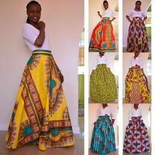 African Dashiki Print Women's High Waist Party Boho Ankara Maxi Long Skirt Dress in Clothing, Shoes & Accessories, Women's Clothing, Skirts African Fashion Skirts, African American Fashion, African Fashion Designers, African Print Fashion, Africa Fashion, African Attire, African Dress, African Print Skirt, African Dashiki