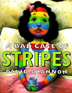a year of many firsts: A Bad Case of Stripes (The Book Nook!).. This week's featured picture book is A Bad Case of Stripes!...I recently used this as a read-aloud for teaching the visualizing strategy. My kids LOVED making visualizations while listening to the story. I had them stop at three different points and draw their visualizations