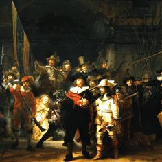 Rembrandt's most famous picture and the largest Dutch national treasure, the Night's Watch can be viewed in the Rijksmuseum in Amsterdam.