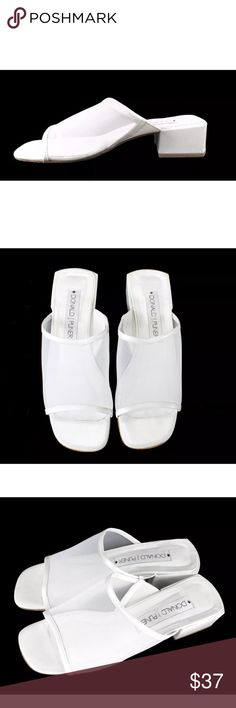 Donald J Pliner Shoes Solid White Slides Heels Color: white Size: women's 7.5M  Item Condition:  Pre-owned; great condition.   All photos are of the actual item that you will receive. There are no stock photos used in this listing.  Be sure to take note of the hand measurements above, as sizing vary by designer. Each garment is laid flat, and un-stretched exterior measurements are taken. Measurements are approximate and are to the best of my ability. If you need any additional measurements…
