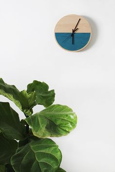 DIY color block wall clock by designer/blogger Molly Madfis of Almost Makes Perfect
