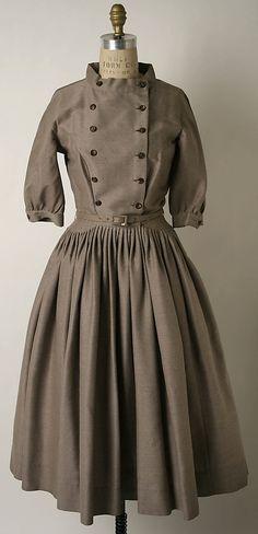 ~Dress, Traina Norell, ca. 1951, American, silk and wool~