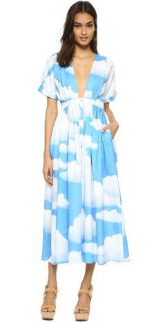 Mara Hoffman Clouds Deep V Dress | SHOPBOP