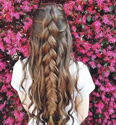 52 Trendy Chic Braided Hairstyle Ideas You Should Try - Mixed dutch & fishtail braid,braid hairstyle Bad Hair, Hair Day, Pretty Hairstyles, Braided Hairstyles, Hairstyle Ideas, Gorgeous Hair, Hair Looks, Hair Inspiration, Curly Hair Styles