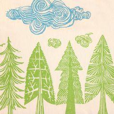 The Story of Paul Bunyan, by Barbara Emberley - woodcuts by Ed Emberley