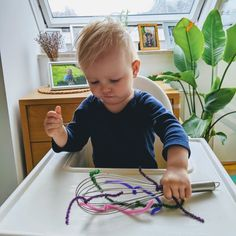 21 Highchair Activities for Tabies & Toddlers – Teach Investigate Play Activities For One Year Olds, Indoor Activities For Toddlers, Toddler Learning Activities, Baby Learning, Infant Activities, Learning Games, Family Activities, Baby Sensory Play, Baby Play