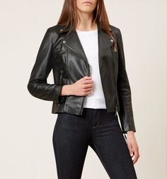 Buy Black Hobbs Laurelle Biker from our Women's Coats & Jackets range at John Lewis & Partners. Suede Fabric, Hobbs, Soft Suede, Biker, Leather Jacket, Casual, How To Wear, Jackets, Black