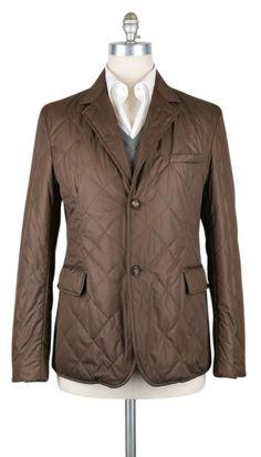 New $2400 Luciano Barbera Brown Solid Jacket -  40/50 - (1113373704015) #LucianoBarbera #BasicJacket