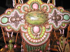 Made by Kiowa Rose Beads Kiowarose.com or kiowarosebeads.etsy.com  Close up of copper bee's