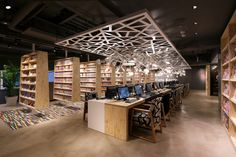 "June 23rd, 2015 by retail design blog The new style Internet / Manga cafe has been set up in Shinjuku area in Tokyo. The store name is ""Booth"". The facility had been used as ""capsule hotel"" ..."