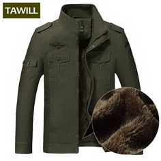 TAWILL Winter Fleece jacket men jean military 6XL army soldier cotton Air force one Brand clothing Autumn Mens jackets 8331H