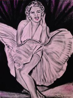 Marilyn Monroe Pretty In Pink Lite Print By Eric Dee