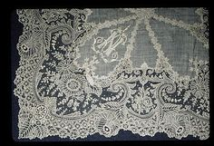 Lace Handkerchief, Belgian (Brussels), 19th century.: