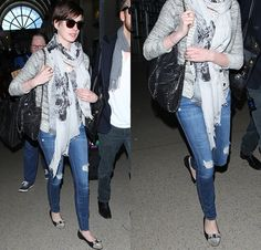 Steal Her Style: Anne Hathaway in Distressed Denims