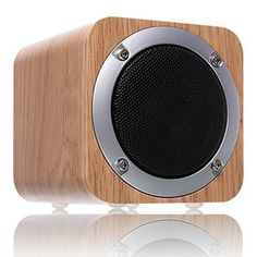 Bluetooth Speaker Wooden ZENBRE F3 6W Portable Bluetooth 4.0 Speakers with 10h Play Time Wireless Computer Speaker with Enhanced Bass Resonator (White Oak)