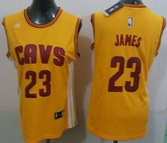 "$234.88 at ""MaryJersey""(maryjerseyelway@gmail.com) Cavaliers 23 LeBron James Gold Women's Alternate Stitched NBA Jersey"