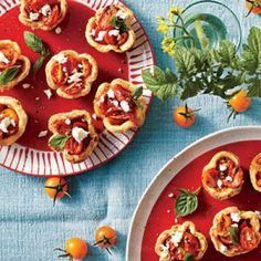 Savory Tomato Pie Recipes: Cheese Straw Tomato Tartlets Recipe
