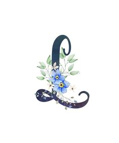 blue flower wallpaper Monogram L Wild Blue Flowers by floralmonogram Blue Flower Wallpaper, L Wallpaper, Monogram Wallpaper, Alphabet Wallpaper, Monogram Design, Monogram Letters, Blue Flowers, Bouquet Flowers, Vintage Flowers