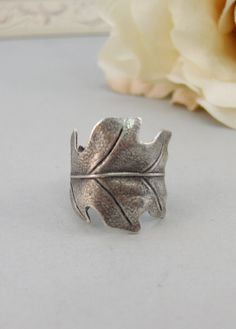 Silver Leaf,Ring,Silver,Leaf,Twigg,Branch,Leaf Ring,Antique Ring,Silver Ring,Woodland, Handmade jewelery by valleygirldesigns.