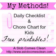 kid chore chart