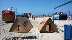 KarTent is a cardboard tent designed for music celebrations KarTent Design Ideas 3 Exterior Ideas