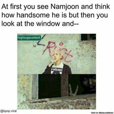 """I heard if you say """"Oppa"""" 5 times then take a pic in front of a window you'll see Jeon Jungkook staring at you with a peace sign through the window"""