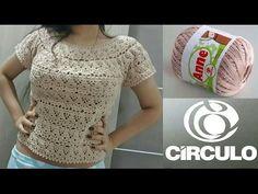 Top,blusa o vestido en crochet, crea tu propio diseño! - YouTube