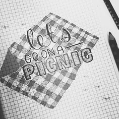 The beautiful letters never end! We love our talented #ssletters members like @sappy_sally. #picnic #acreativedc #lettering #handlettering by ssletters