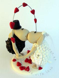 Schafs Brautpaar von www.tortenfiguren.at - Sheep Weddingcaketopper