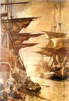 Flåden forlader København