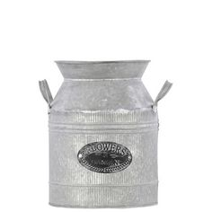 Found it at Wayfair - Urban Trends Metal Milk Can with Metal Handles Galvanized Zinchttp://www.wayfair.com/Urban-Trends-Metal-Milk-Can-with-Metal-Handles-Galvanized-Zinc-31414-URT7168.html?refid=SBP.rBAZEVOofXC2VE_1JO-9AoiJoyHzIUsSid5TvK9wMNs