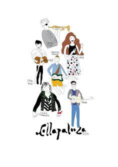My illustration about Lollapalooza Chile 2014 on my blog frenchychili.blogspot.com