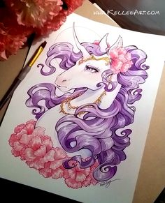 Unicorn by KelleeArt.deviantart.com on @DeviantArt
