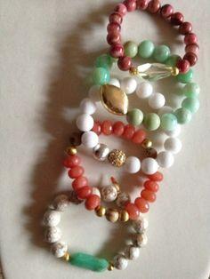 Stretch Bracelets  Gemstone Stretch Bracelets by ZancsJulz on Etsy