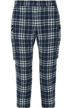 Joseph Jade checked wool-blend cargo pants   THE OUTNET