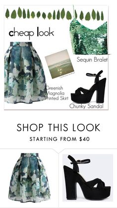 """""""Cheap Look #9 - Party Time"""" by vialmeidacuellar ❤ liked on Polyvore featuring Chicwish, Cape Robbin, Topshop and Polaroid"""