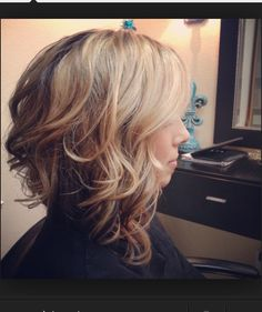 Love shape, volume, texture. Make it dark with some Betty bangs and we're in business