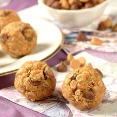 No-Bake Peanutty Granola Bites  (Easy; 36 bites)