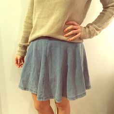 TOPSHOP stretch jean skirt. Super comfy jean skirt from topshop. Same style as picture 3. Stretch and high-waisted Topshop Skirts Circle & Skater