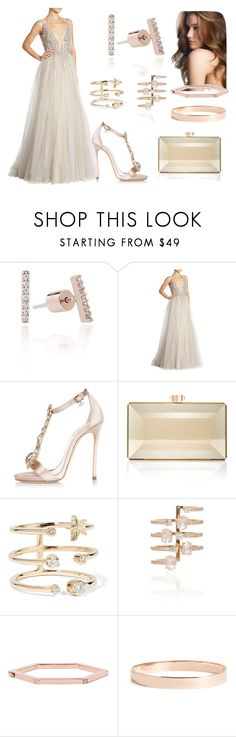 """""""Sem título #1281"""" by fervi ❤ liked on Polyvore featuring Berta, Dsquared2, Judith Leiber, Andrea Fohrman, Hueb, Tory Burch and Lana Jewelry"""
