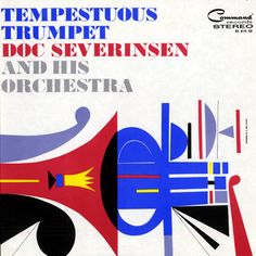 "Neil Fujita record album design, ""Doc Severinsen: Tempestuous Trumpet"" LP by NewDocuments on Etsy Lp Cover, Vinyl Cover, Cover Art, Framed Records, Vintage Vinyl Records, Doc Severinsen, Blues In The Night, Album Design, Design Thinking"
