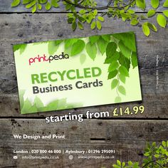 NEW Recycled Cards. Starting from £14.99 !  #GraphicDesignUK   #BuckShow16   #London2016   #Aylesbury   #Buckinghamshire   #LogoDesign   #LogodesignAylesbury   #GraphicDesignAylesbury   #RecycledBusinessCards    For any information visit here: http://printpedia.co.uk